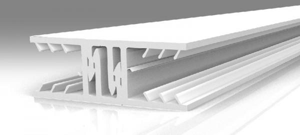 10 mm Zevener Verbindungsprofil 7 cm weiß