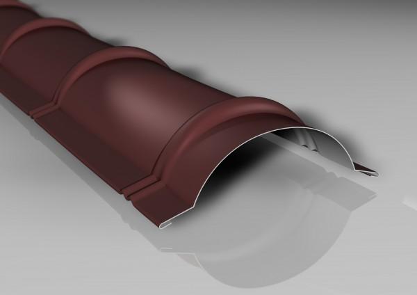 Firstblech halbrund 1860mm 80 µm Shimoco