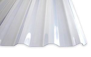 1,4 mm PVC-Lichtplatten W-20/1100 | klarbläulich