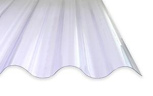 1,4 mm PVC-Lichtplatten passend für Faserzementplatten klar Welle 6 3/4