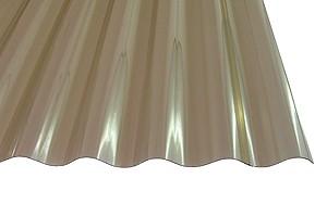 1,2 mm PVC-Lichtwellplatten Profil 76/1 | bronce
