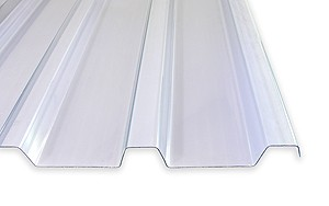 1,5 mm PVC- Lichtplatten Dachplatte Prof.40/183 | klar