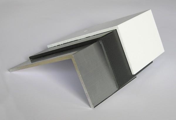 Alu-Bremswinkel, preßblank 100 x 50 x 3