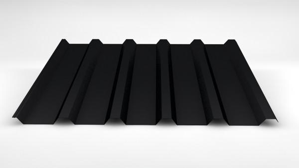 SOPO W35 / 207 Trapezblech 0,60mm 50µm Pural schwarz | 5 x 5,50m