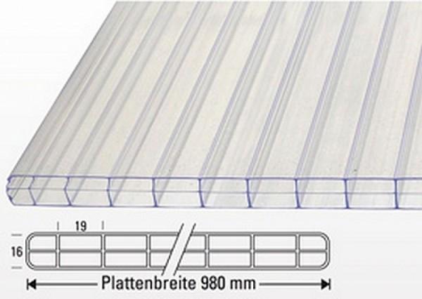 Nova-Lite Stegdreifachplatte Standard 16mm