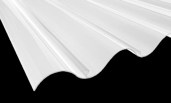 1,2 mm PVC-Lichtplatten, klar-bläulich