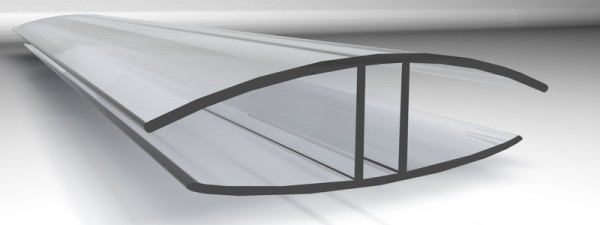 10 mm H-Verbindungsprofil aus Polycarbonat