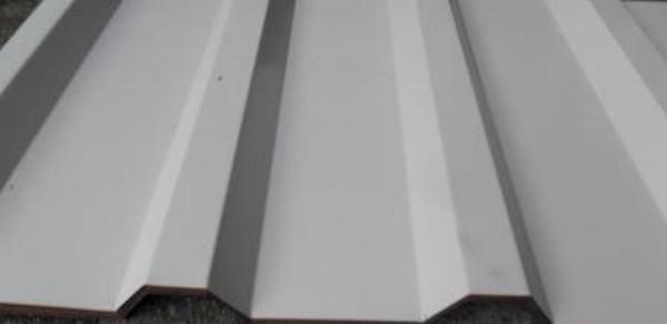 SOPO 20 / 1100 Trapezblech D=0,50 35µm Mattpolyester lichtgrau