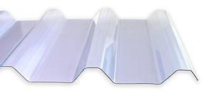 1,5 mm PVC-Lichtplatten Profil 250/50 | klarbläulich