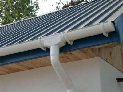 100 mm PVC - Dachrinnen-Set 4m