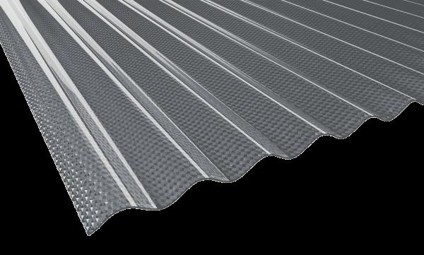 2,5 mm PVC-Lichtwellplatten Wabe | Profil 76/18 | grau
