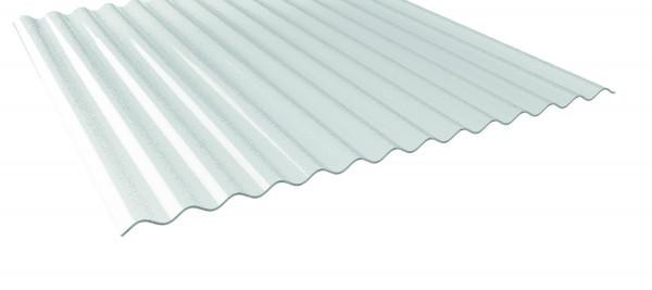 3,0 mm Acryl Lichtplatten, Prof.76/18 klar C-Struktur