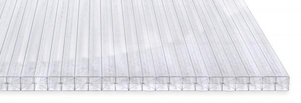 16mm PC X-Struktur-Stegplatte glasklar oder opal | 1,20 m breit